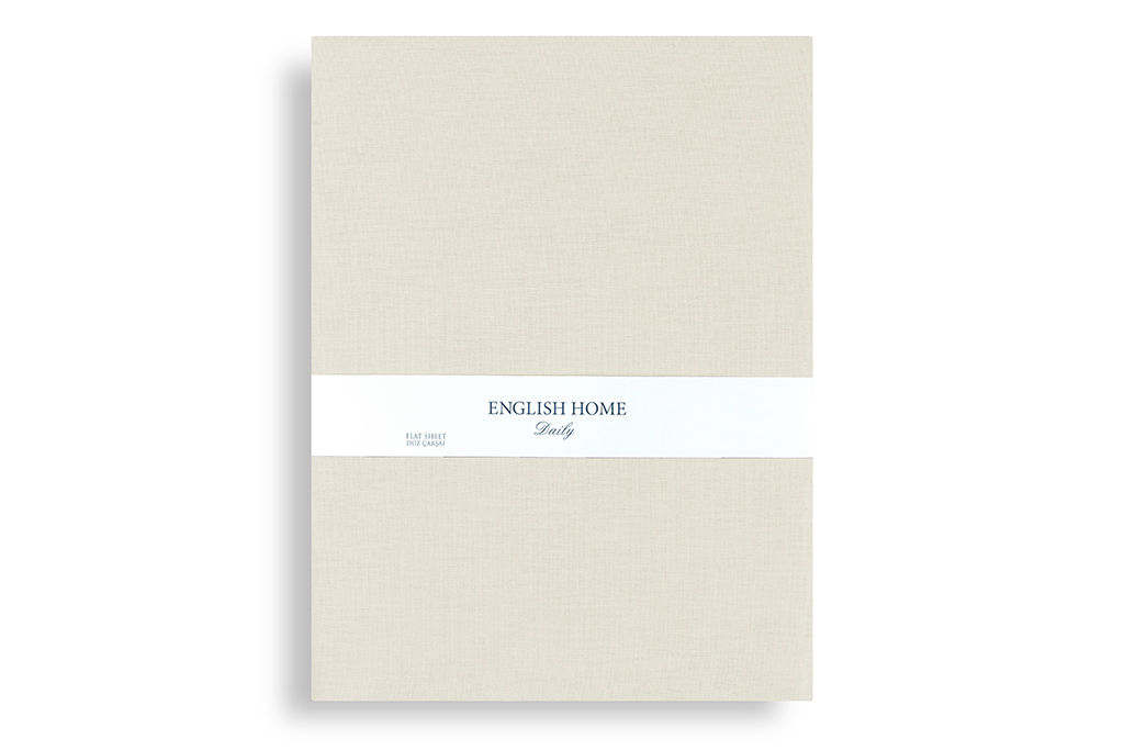 Düz Pamuklu Çift Kişilik Çarşaf 240x260 Cm Taş Rengi
