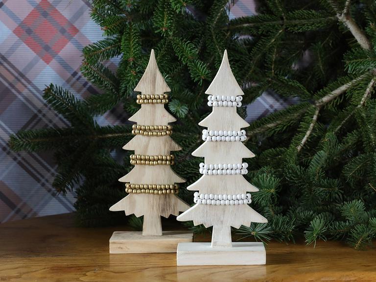 Tree House Yılbaşı Aksesuarı 13x6x31,8 Cm Beyaz
