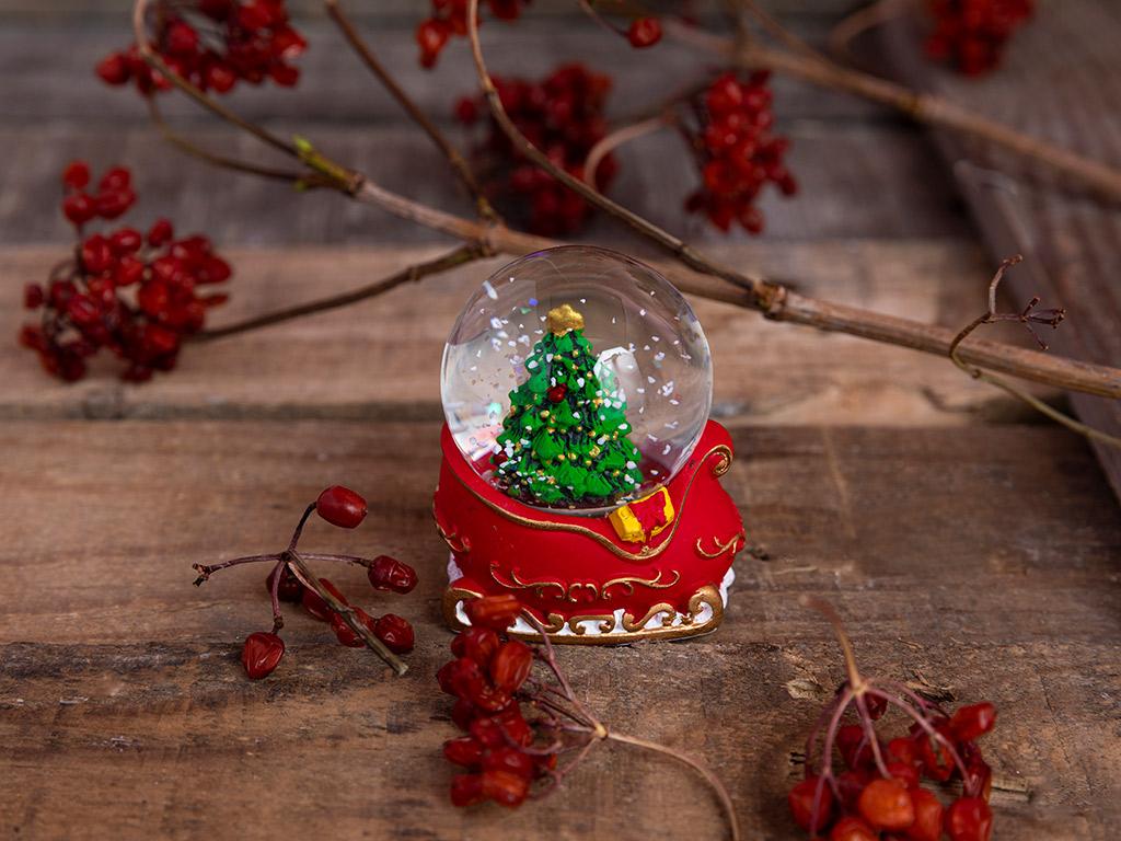 Pine Tree Kar Küresı 5,0 X 4,5 X 6,5 Cm Kırmızı