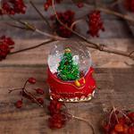 Pine Tree Kar Küresi 5,0x 4,5x6,5 Cm Kırmızı