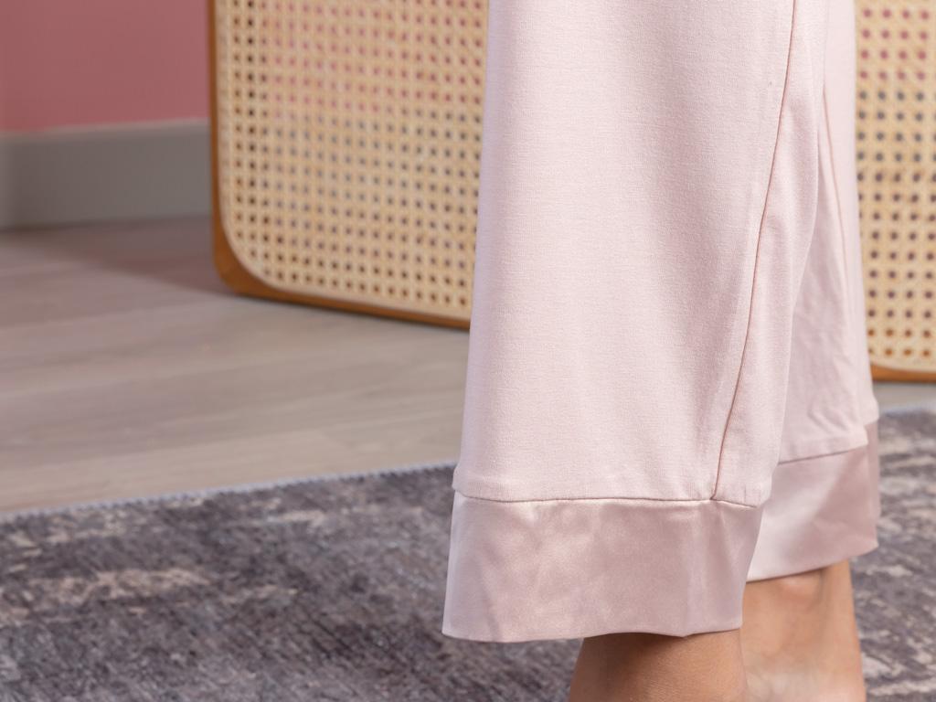Pure Viskon Bayan Pijama Takımı S-m Pudra
