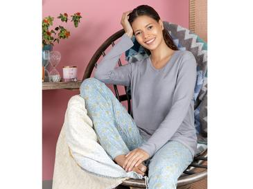 Urban Liberty Viskon Bayan Pijama Takımı M Mavi