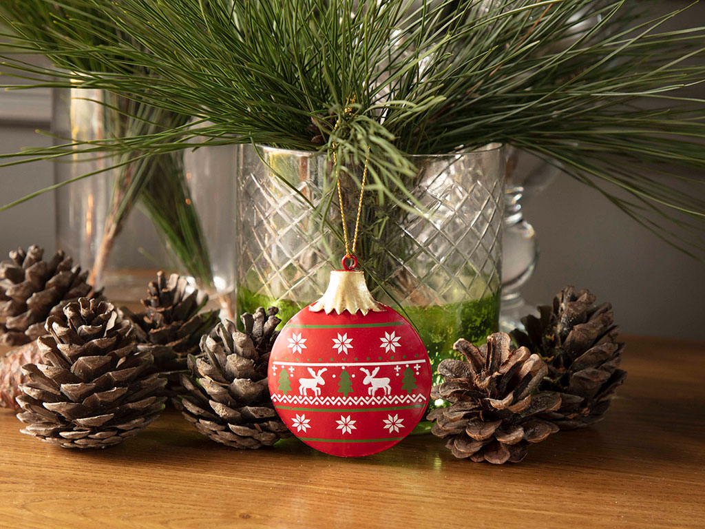 Happy New Year Askılı Aksesuar 6,5x8,5cm Kırmızı