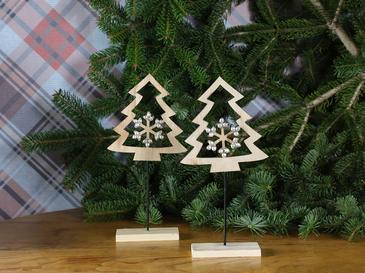 Pine Tree Yılbaşı Aksesuarı 14x4,6x28,7 Cm Naturel