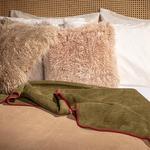 Softy Düz Çift Kişilik Battaniye 200x220 Cm Yeşil-bej