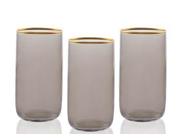 Madle Cam 3'lü Meşrubat Bardağı 365 Ml Gri