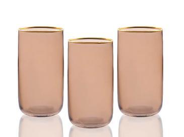Madle Cam 3'lü Meşrubat Bardağı 365 Ml Kahve