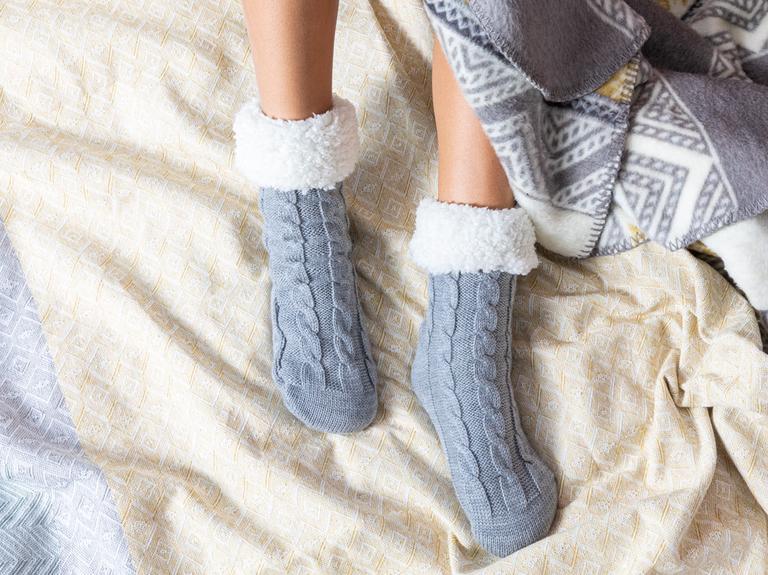 Softy Triko Kadın Çorap 39-41 Gri