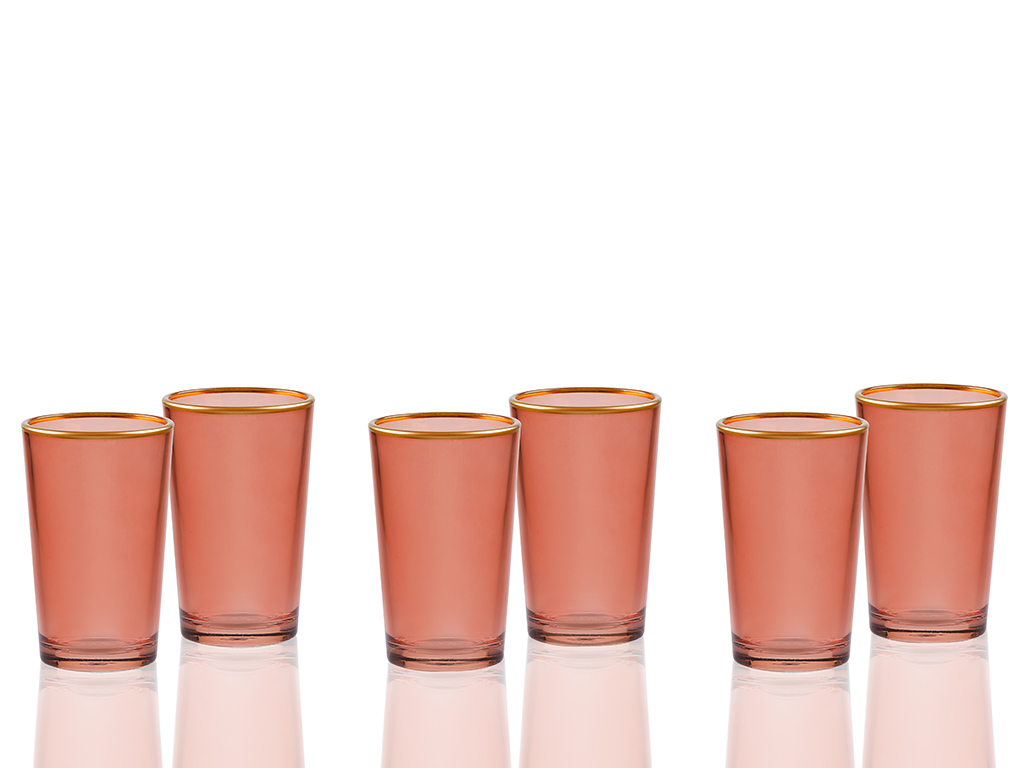 Tanya Cam 6'lı Kahve Yanı Su Bardağı 100 Ml Yeşil