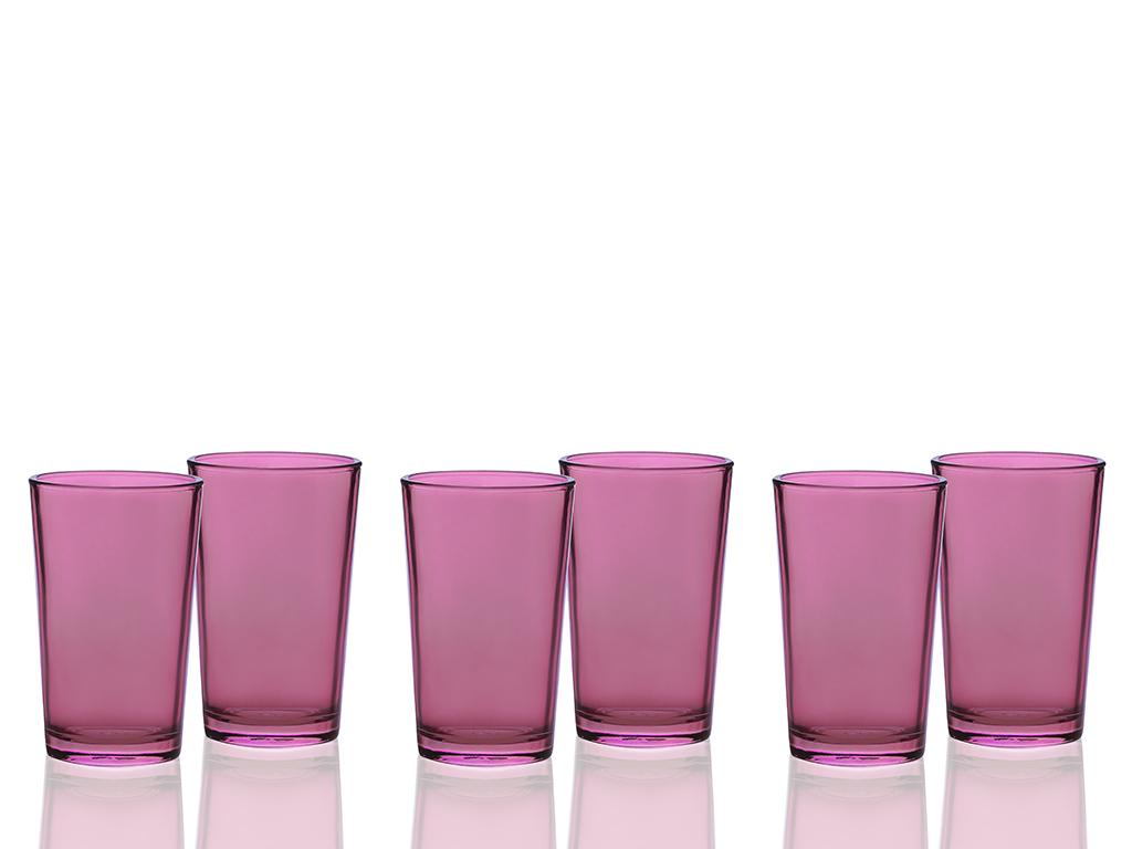 Elves Cam 6'lı Kahve Yanı Su Bardağı 100 Ml Bordo