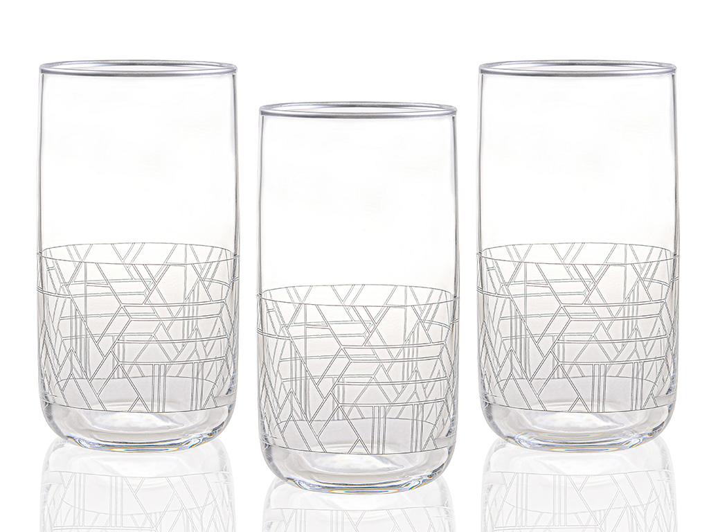 Robin Cam 3'lü Meşrubat Bardağı 365 Ml Gümüş