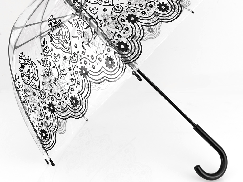 Çiçek Şemsıye 23x8 Cm Şeffaf
