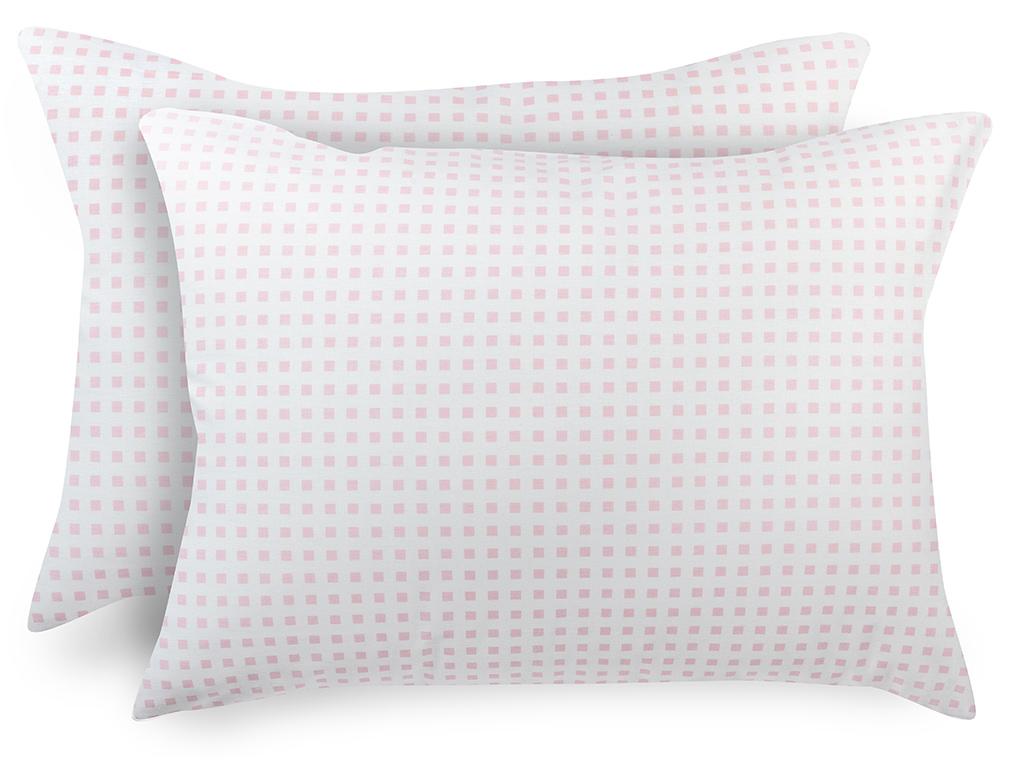 Square Pamuklu 2'li Çocuk Yastık Kılıfı 50x70 Cm Pembe