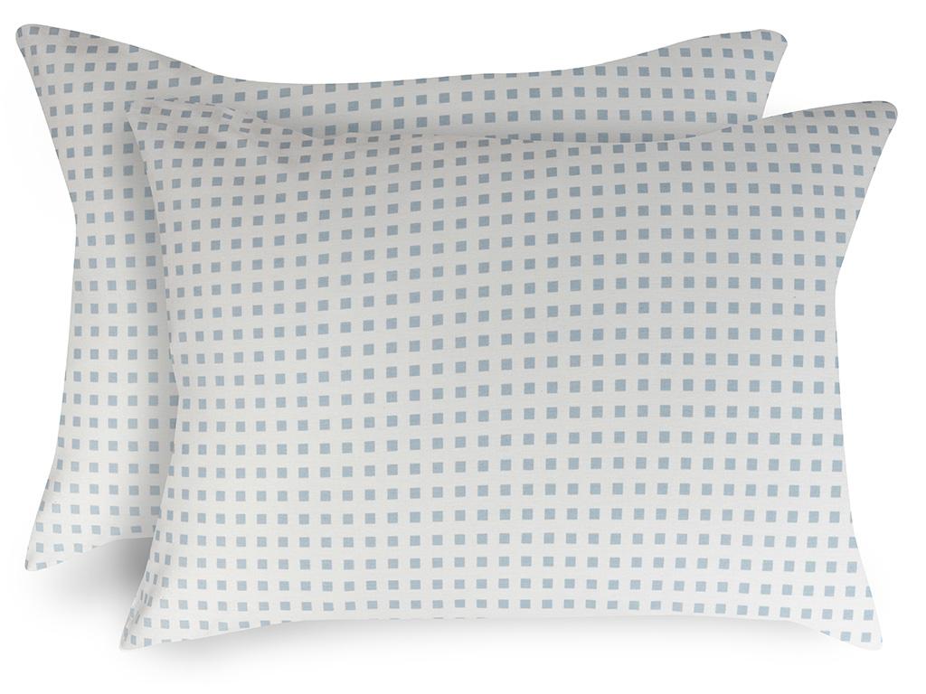 Square Pamuklu 2'li Çocuk Yastık Kılıfı 50x70 Cm Mavi