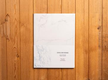Marble Pvc Kare Masa Örtüsü 140x140 Cm Beyaz