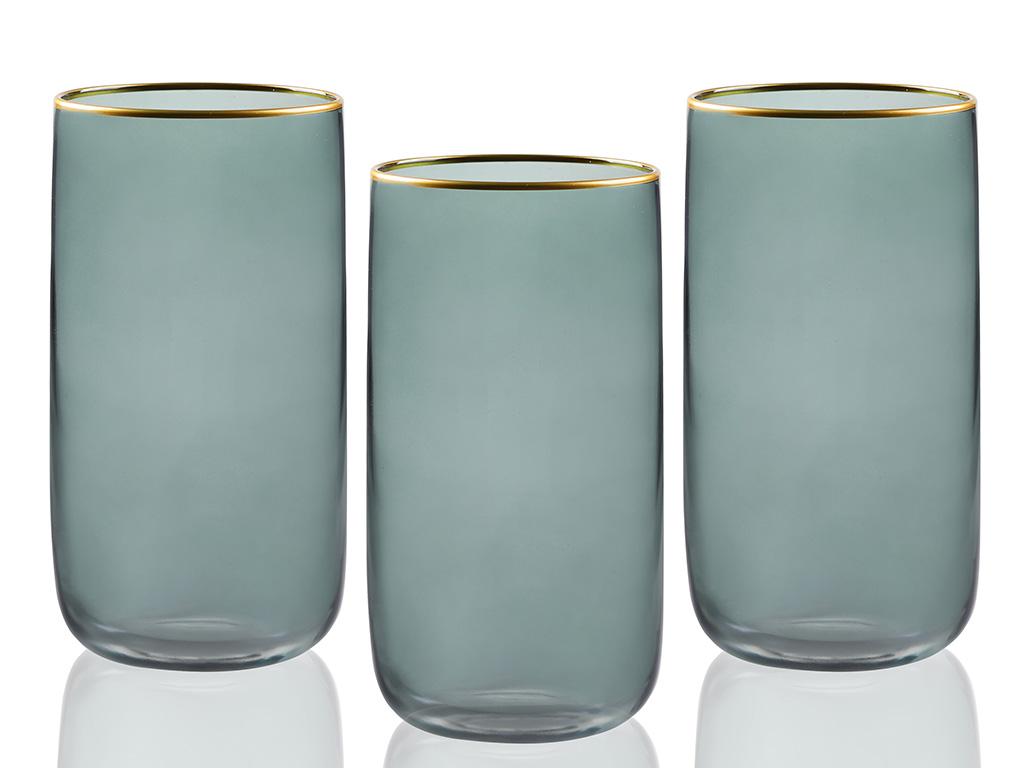 Mason Cam 3'lü Meşrubat Bardağı 365 Ml Yeşil