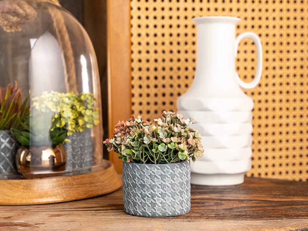 Urban Floral Yapay Çiçek 12,7x12,7x10,8 Cm Pembe
