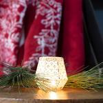 Paisley Charm Mumluk 10x9,5 Cm Krem
