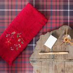 Winter Love Nakışlı Yüz Havlusu 50x70 Cm Kırmızı