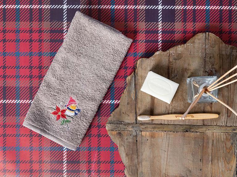 Winter Joy Nakışlı Paketli Hediyelik Havlu 40x60 Cm Bej