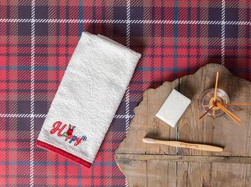 Happy Nakışlı Paketli Hediyelik Havlu 40x60 Cm Krem