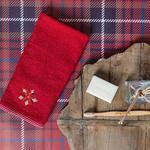 Shiny Winter Nakışlı Paketli Hedıyelık Havlu 40x60 Cm Kırmızı