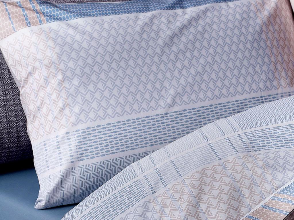 Urban Check Pamuklu 2'li Yastık Kılıfı 50x70 Cm Mavi