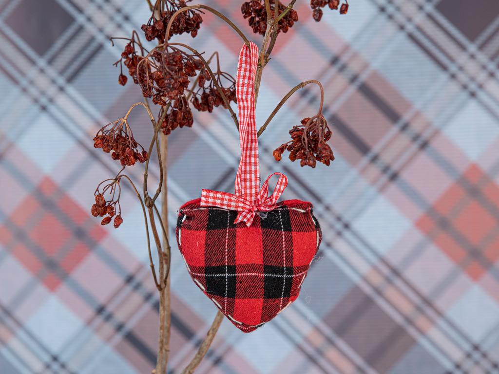 Heart Askılı Aksesuar 10x9,5x3 Cm Kırmızı-siyah