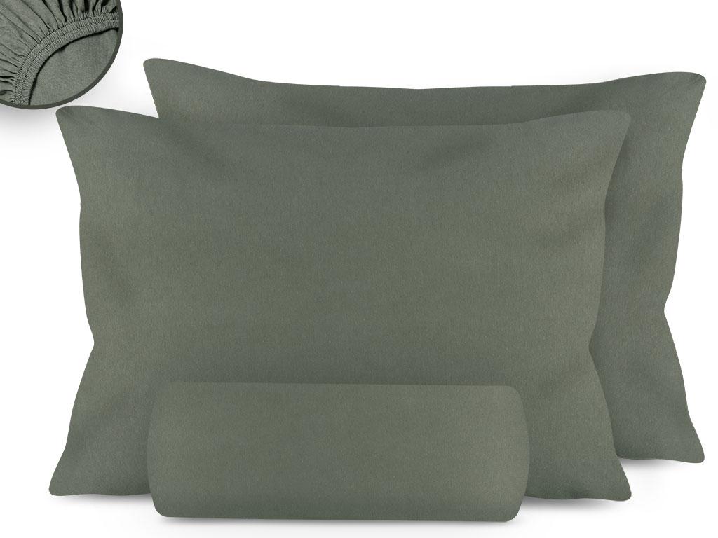 Düz Penye King Size Lastikli Çarşaf Takımı 180x200 Cm Adaçayı Yeşili