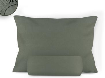Düz Penye Tek Kişilik Lastikli Çarşaf Takımı 100x200 Cm Adaçayı Yeşili