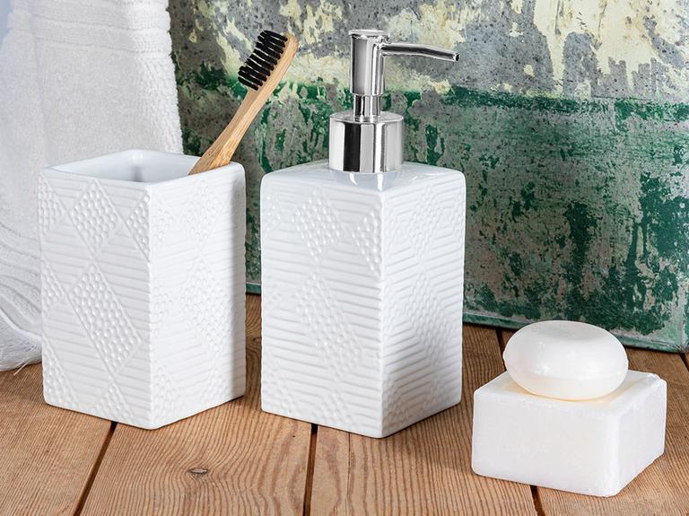 Urban Pure 2'li Set Banyo Seti 7x7x10x16 Cm Beyaz