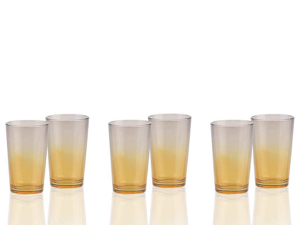 Gena Cam 6'lı Kahve Yanı Su Bardağı 100 Ml Amber-gri