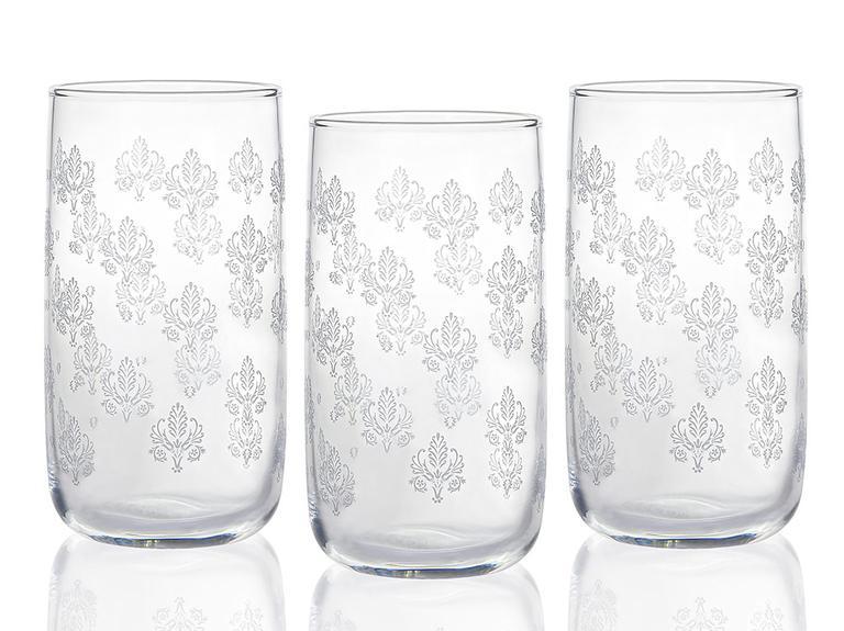 Alder Cam 3'lü Meşrubat Bardağı 365 Ml Gümüş