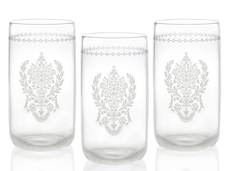 Ena Cam 3'lü Meşrubat Bardağı 365 Ml Gümüş