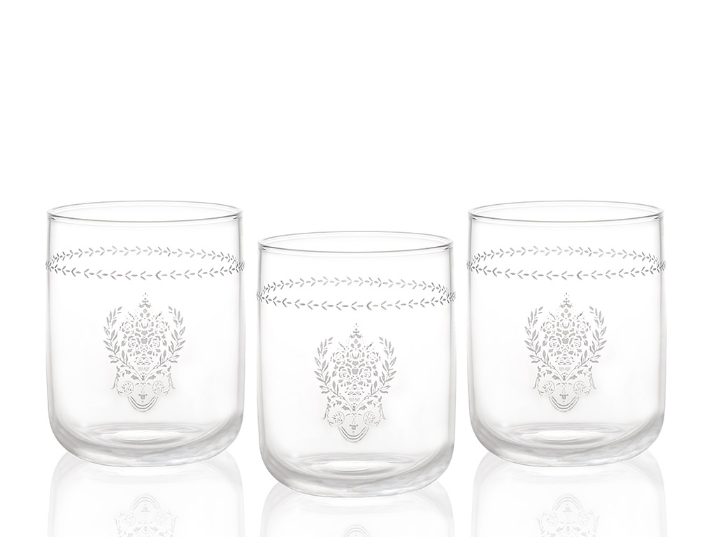 Ena Cam 3'lü Meşrubat Bardağı 270 Ml Gümüş