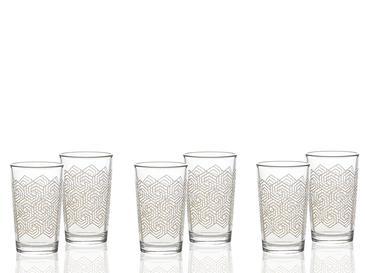 Gale Cam 6'lı Kahve Yanı Su Bardağı 100 Ml Sarı