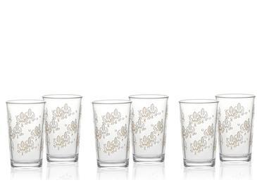 Alder Cam 6'lı Kahve Yanı Su Bardağı 100 Ml Gold