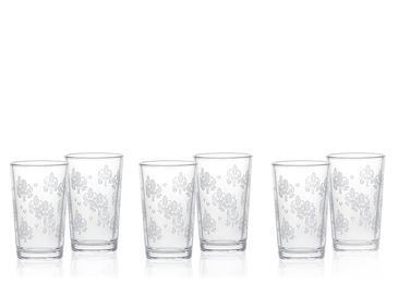 Alder Cam 6'lı Kahve Yanı Su Bardağı 100 Ml Gümüş