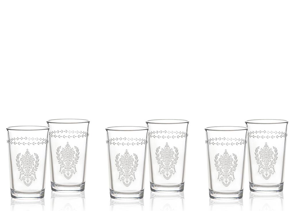 Bega Cam 6'lı Kahve Yanı Su Bardağı 100 Ml Gümüş
