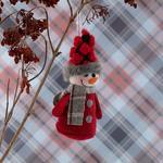 Snow Holiday Askılı Aksesuar 5x5x9cm Kırmızı