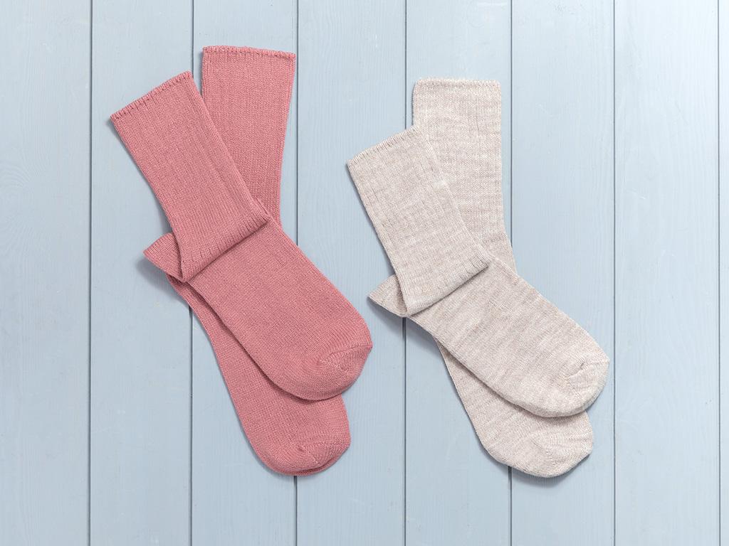 Sleep Well Akrilik 2li Uyku Çorabı Çorap 36-38 Tarçın-bej