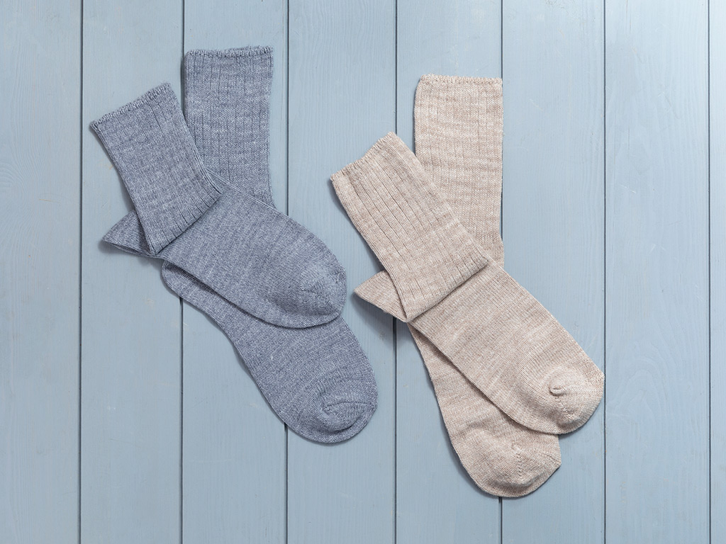 Sleep Well Akrilik 2li Uyku Çorabı Çorap 36-38 Bej-indigo