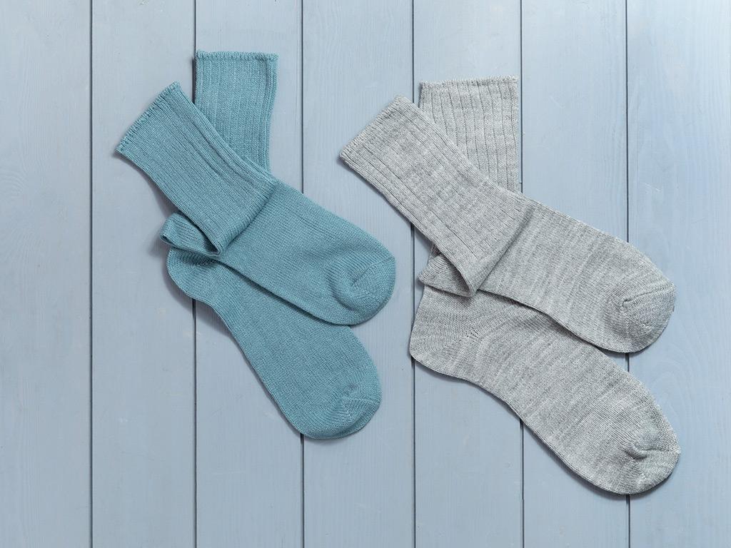 Sleep Well Akrilik 2li Uyku Çorabı Çorap 39-41 Gri-seledon