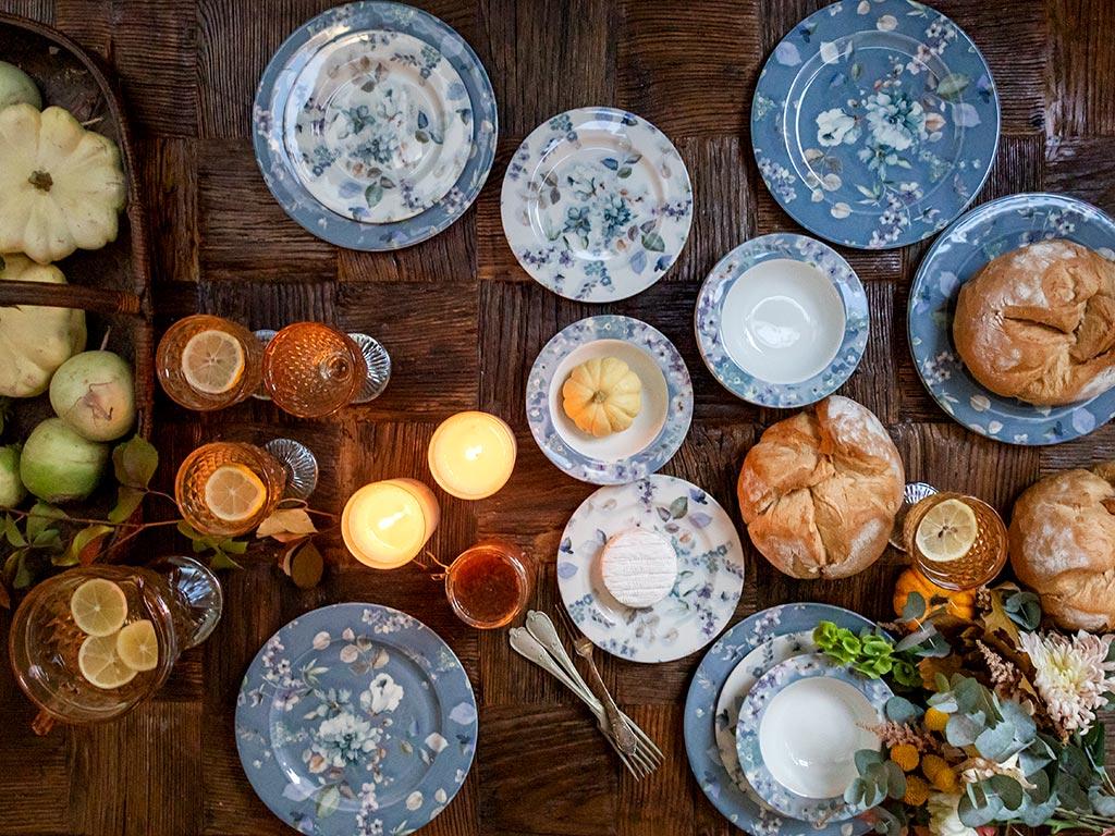 Viyola Porselen 12'li Yemek Takımı 17 Cm - 20 Cm - 26 Cm Mavi