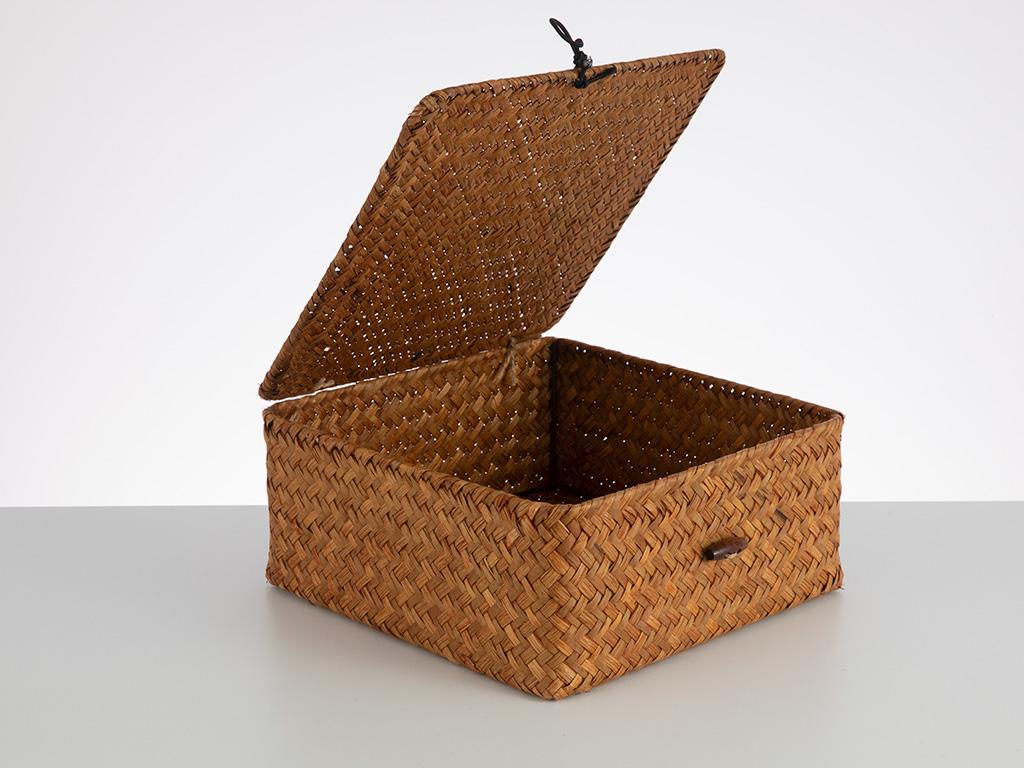 Basket Work Saklama Kutusu 24x24x10 Cm Kahve