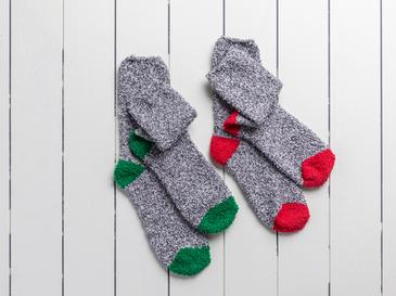 Plain Polyester Bayan 2'li Çorap 39-41 Gri