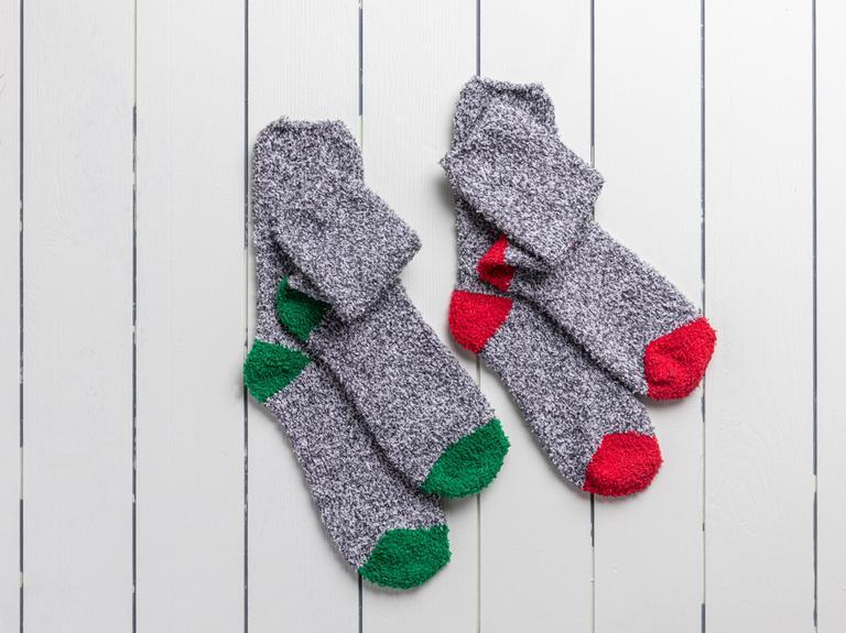 Plain Polyester Kadın 2'li Çorap 39-41 Gri