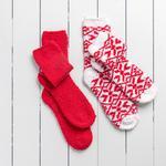Snow Polyester Bayan 2'li Çorap 36-38 Kırmızı