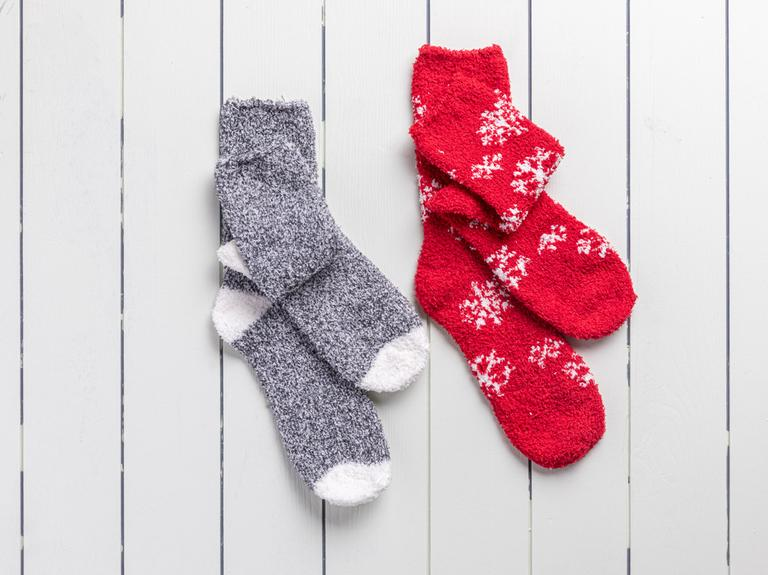 Snowflake Polyester Bayan 2'li Çorap 39-41 Gri