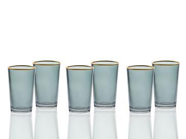 Dafne Cam 6'lı Kahve Yanı Su Bardağı 100 Ml Yeşil